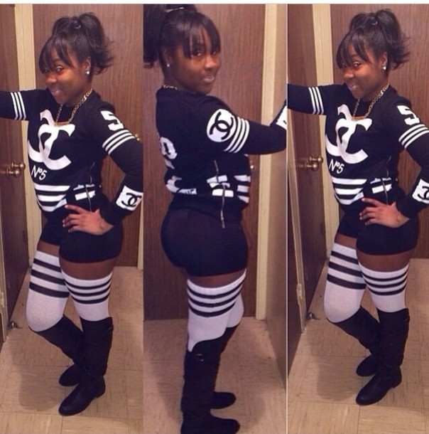 tumblr twitter t-shirt chanel india westbrooks markia clothes joggers