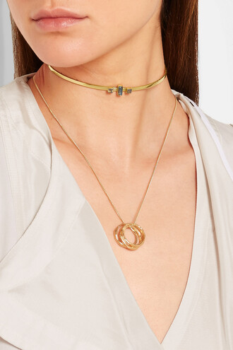 jewels choker necklace gold