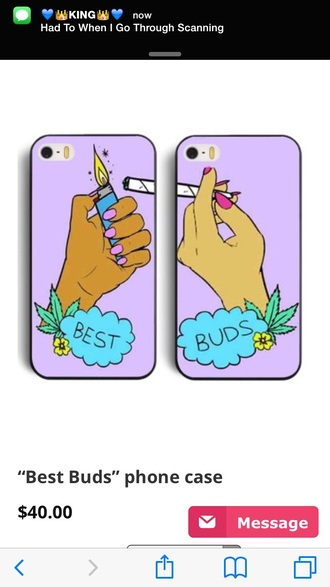 phone cover friends marijuana