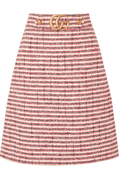 gucci skirt embellished red