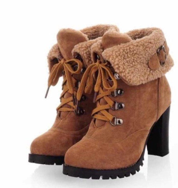 shoes yellwbrown ankle boots