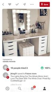 home accessory,white multishelved vanity/desk