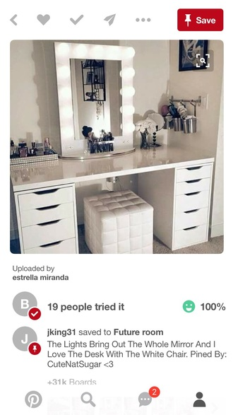 home accessory white multishelved vanity/desk
