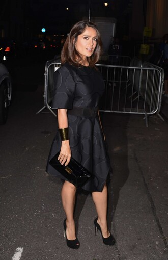 salma hayek dress little black dress black fall outfits