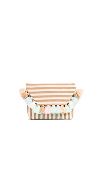 JADEtribe clutch pastel bag
