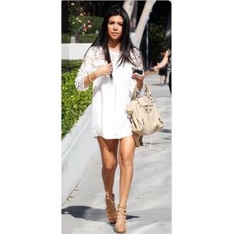 dress kourtney kardashian white dress