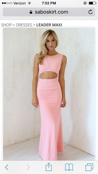 dress pink cut out dress dress maxi alexis ren