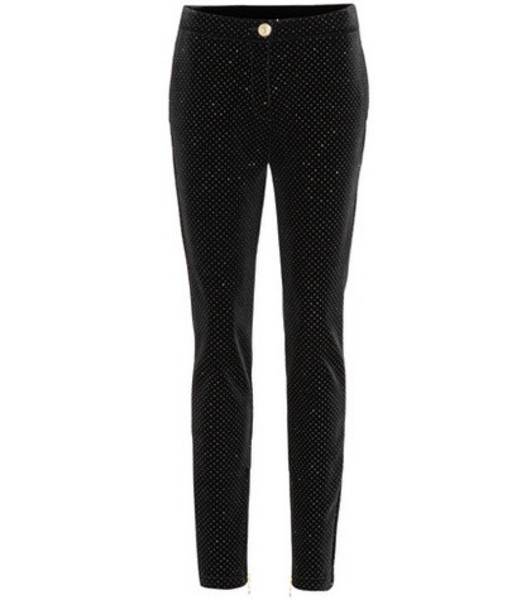 Balmain Ankle-zip pants in black