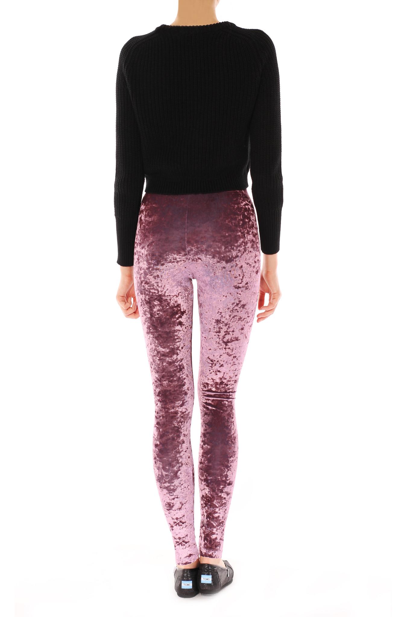 Crushed lavender velvet leggings