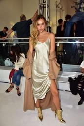 dress,alexis ren,clothes,slip dress,metallic