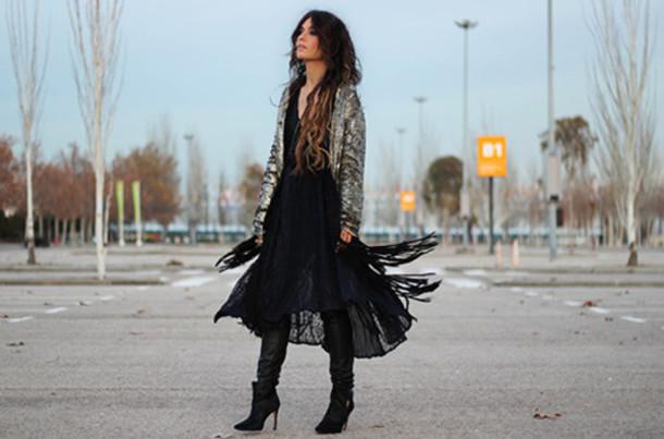 madame rosa blogger dress pants sequin jacket gypsy