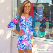dress,cute,classy,pink dress,blue dress,white dress,lily pulitzer,fashion,style,lilly pulitzer
