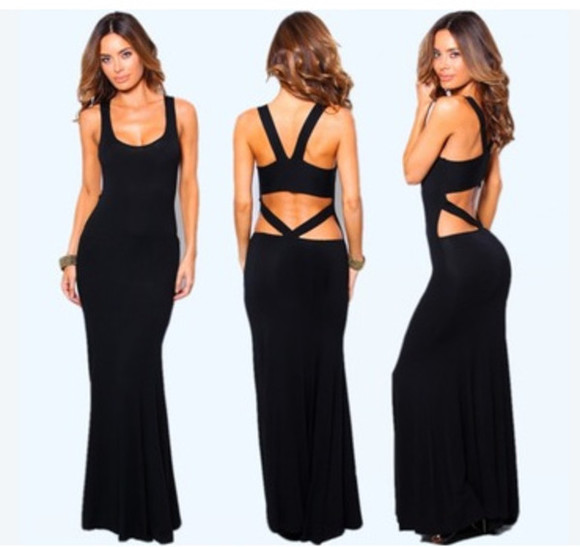 evening dress cut-out maxi dress long dress sleeveless