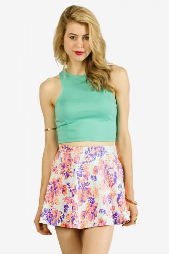 Neon Oasis Skater Skirt