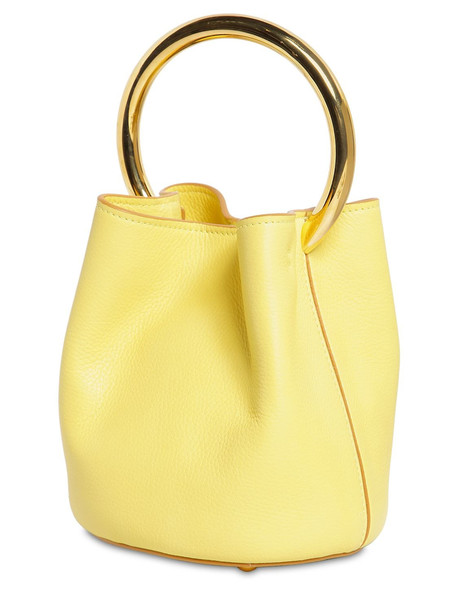 MARNI Pannier Leather Bucket Bag in yellow
