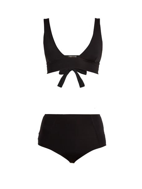 bikini triangle bikini triangle high black swimwear