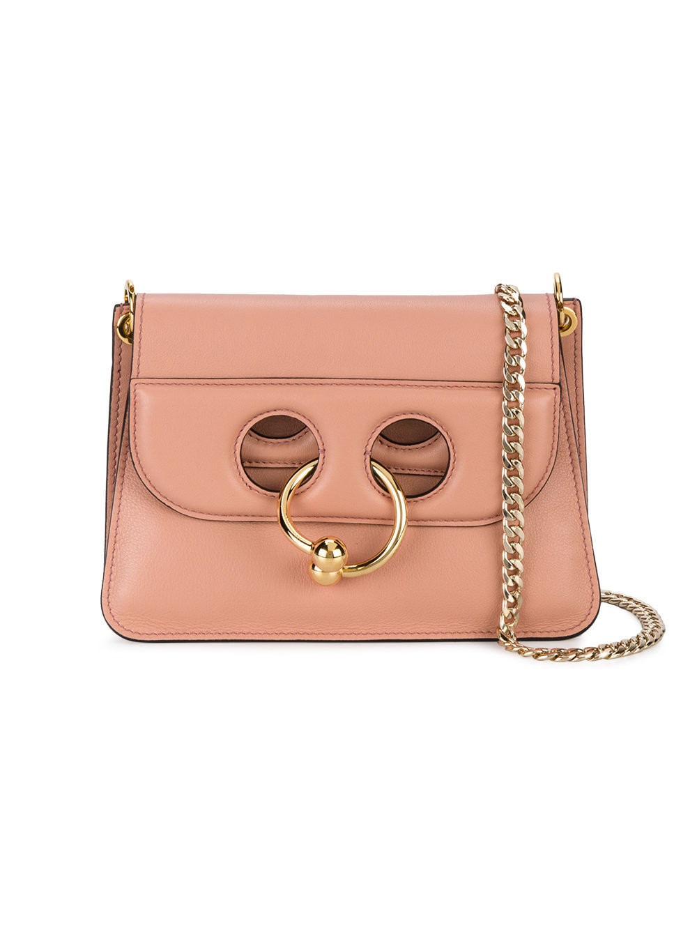 JW Anderson Leather Mini Taupe Pierce Messenger Bag in
