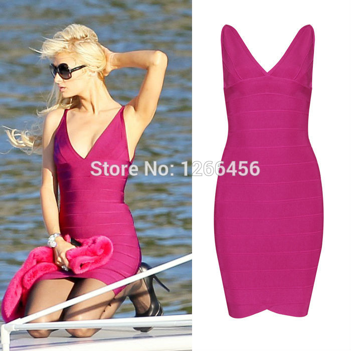 Aliexpress.com : Buy Hot Sale 2014 Spring&Summer Double Deep V Neck Tank Bandage Dress Rose Red/Black Sexy Clubwear Bodycon Dresses h022 from Reliable dress dora suppliers on Lady Go Fashion Shop