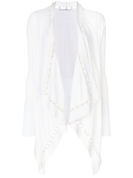Givenchy cardigan cardigan women pearl embellished white wool sweater