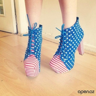 shoes high heels american flag