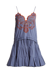 dress,cotton,blue