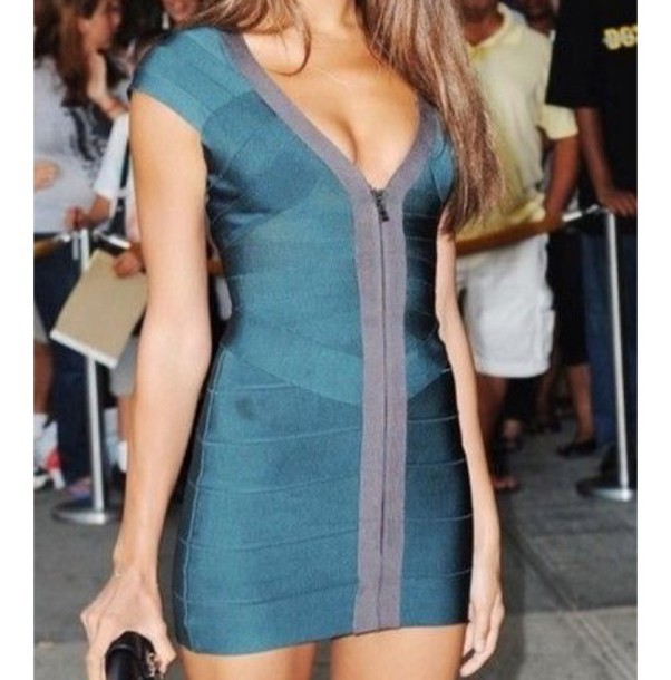 89e7da7432e dress bandage dress irina shayk blue dress mini dress celebrity celebrity  style celebstyle for less bodycon