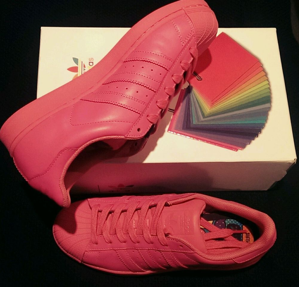 photos officielles 2ee8b 7e545 Adidas Superstar, Pharrell Williams supercolor in Semi Solar Pink size 8