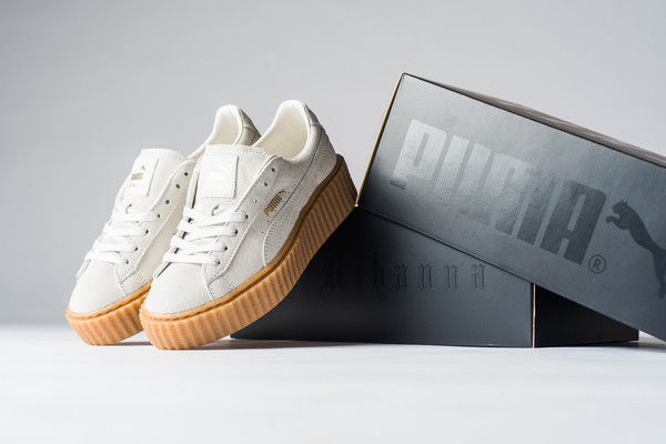 PUMA BY RIHANNA Creeper Suede Fenty Star White Oatmeal ... e746fdb92