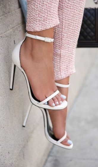 shoes white white heels minimalist strappy white heels open toes minimalist shoes white high heels classy
