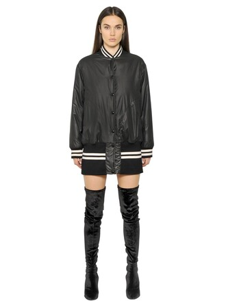 jacket bomber jacket long water black