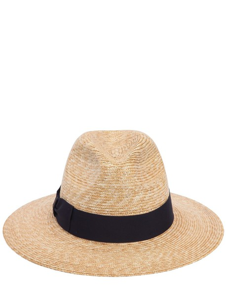 BORSALINO Braided Straw Hat in blue / natural