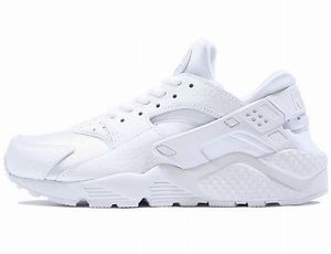 136696bd2a201 Nike Womens Air Huarache Run Premium Triple White Running ...