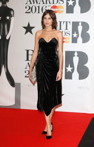 dress black dress bustier bustier dress alexa chung midi dress gown prom dress brit awards