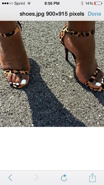 shoes leopard print high heels