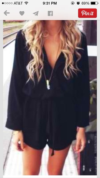 black romper jumpsuit