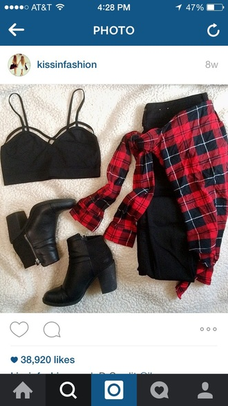 tank top black tank top x crossed blouse shirt top
