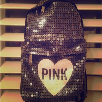 bag victoria's secret sequins heart pink by victorias secret