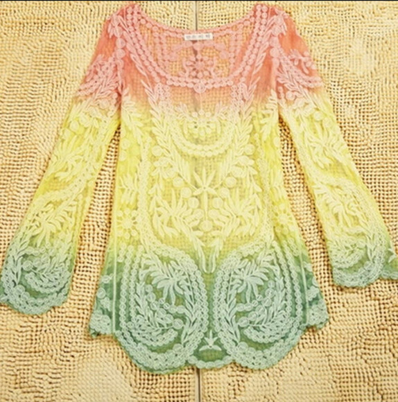 autumn top lace top gradient