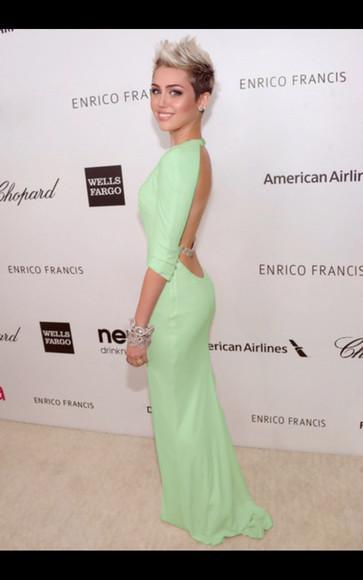 miley cyrus prom dresses 2014 mint dress