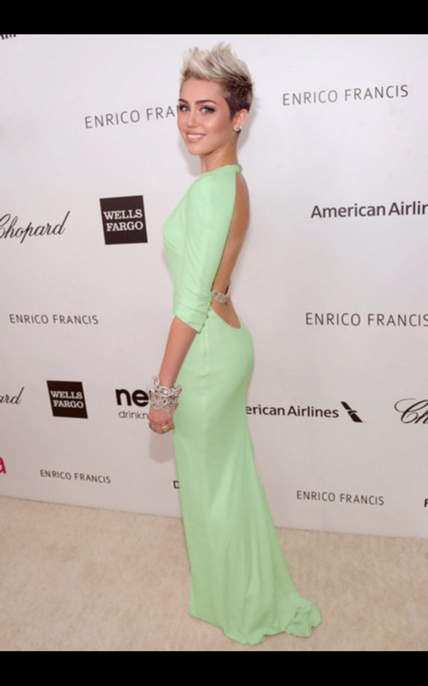 Miley Cyrus Prom Dress Mint Dress Prom Dress Miley