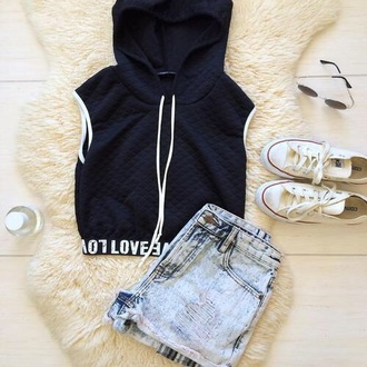 jacket sweater navy hoodie vest