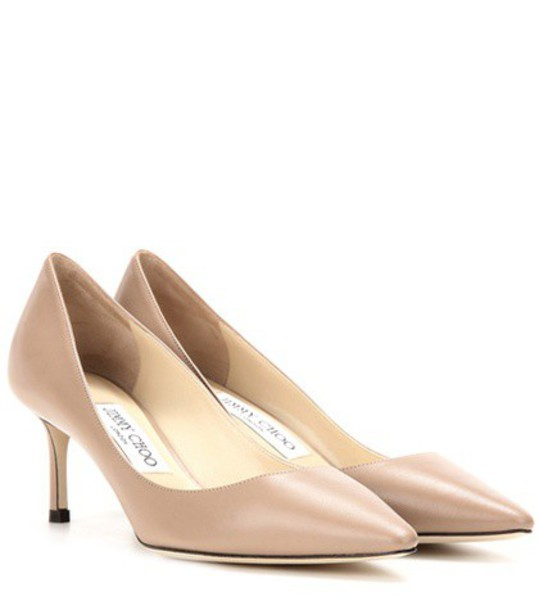 Jimmy Choo Romy 60 leather pumps in neutrals