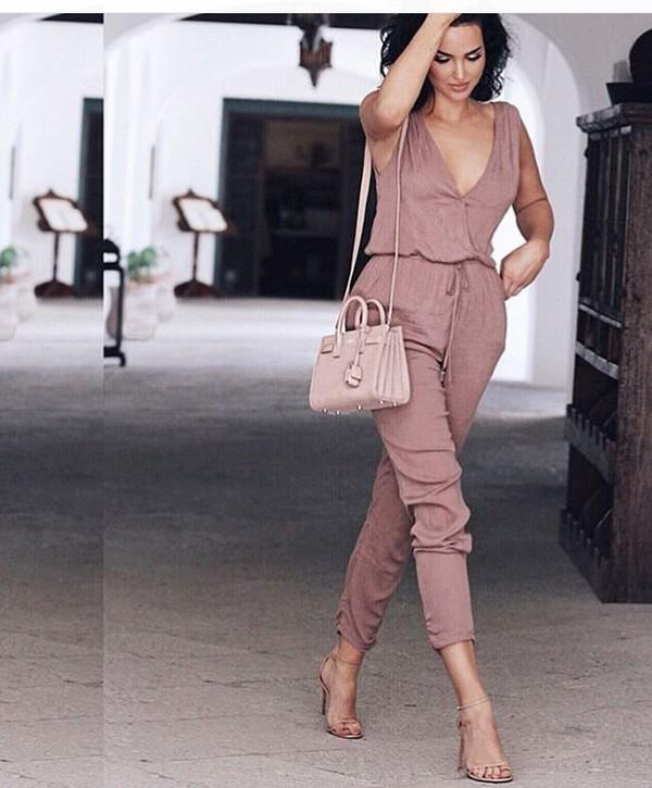 Blush Pink Jumpsuit - Shop for Blush Pink Jumpsuit on Wheretoget