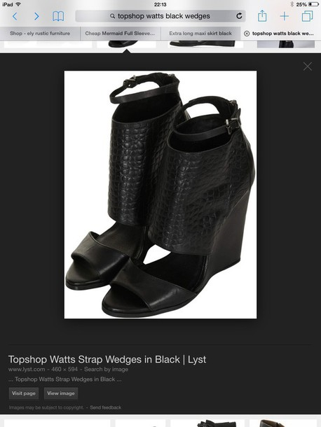 shoes black 'watts'topshop wedges