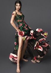 dress,gown,floral,floral dress,vogue,editorial,kendall jenner,model,kardashians