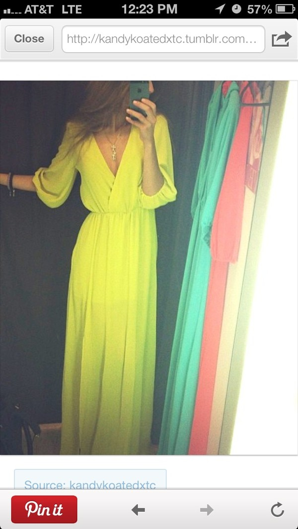dress clothes silk maxi long dress maxi dress prom prom dress prom dress long prom dress wrap v neck v neck dress bright neon summer summer dress chic cute cute dress sheer thin runway