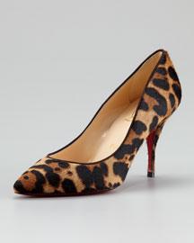 Christian Louboutin Piou Piou Leopard-Print Pump - Neiman Marcus