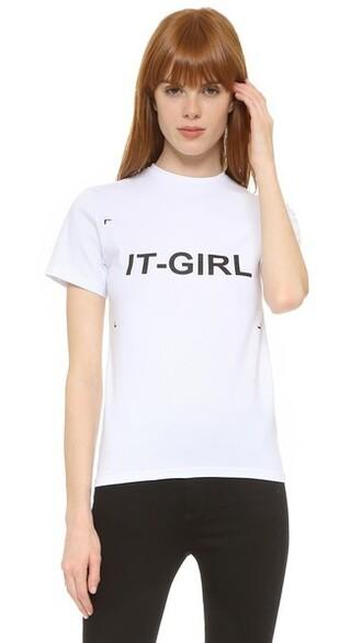 t-shirt shirt girl white top