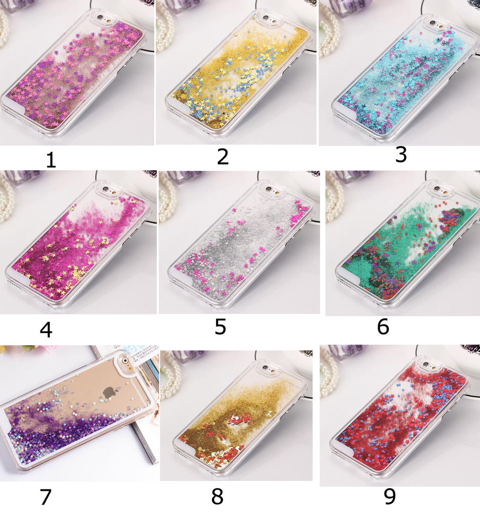 size 40 77fc7 13f9c Clear Dynamic Liquid Glitter Colored Paillette Quicksand Case Cover For  Phones