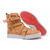 Christian Louboutin Spacer Flat High Top Womens Sneakers Leather Light Brown